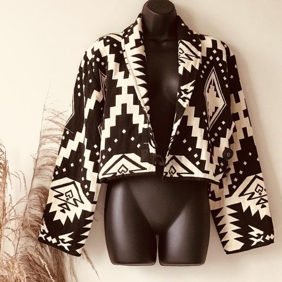 Casual Corner Jackets & Blazers - Vintage Bolero Tribal Woven Jacket